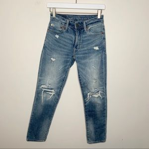American Eagle AE Distressed Cropped Jeans 26x32